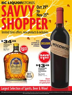 BC Liquor Stores deals in the Vancouver flyer