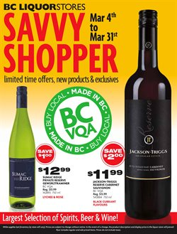 BC Liquor Stores deals in the Smithers flyer