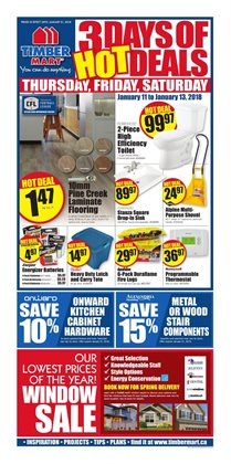 Timber Mart deals in the Vancouver flyer