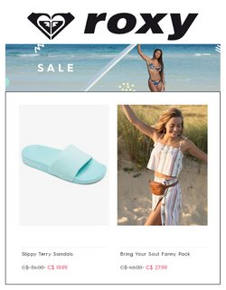 Roxy deals in the Roxy catalogue ( More than a month)