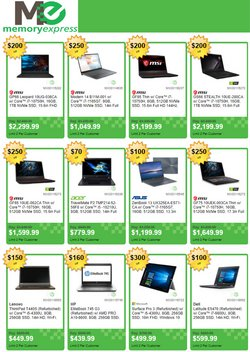Electronics deals in the Memory Express catalogue ( Expires tomorrow)