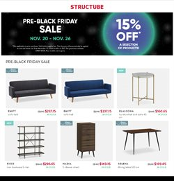 Home & Furniture offers in the Structube catalogue ( 2 days left )