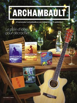 Electronics deals in the Archambault catalogue ( 7 days left)