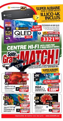 Electronics & Appliances offers in the Centre Hi-Fi catalogue in Victoriaville