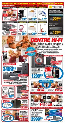 Electronics offers in the Centre Hi-Fi catalogue in Rouyn-Noranda