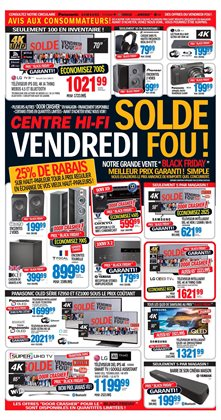 Electronics offers in the Centre Hi-Fi catalogue in Saint-Hyacinthe