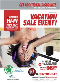 Electronics deals in the Centre Hi-Fi catalogue ( Published today)