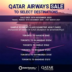 Travel offers in the Gala Travels catalogue in Toronto ( 24 days left )