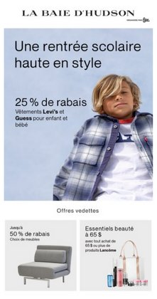 Clothing, Shoes & Accessories deals in the La Bahie d'Hudson catalogue ( Expires today)