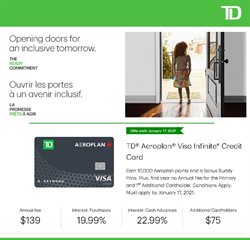 Banks offers in the Toronto-Dominion Bank catalogue in Toronto ( More than a month )