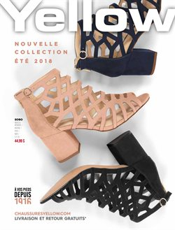Yellow Chaussures deals in the Montreal flyer