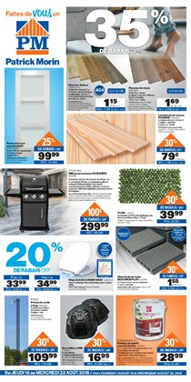 Home & furniture offers in the Patrick Morin catalogue in Salaberry-de-Valleyfield