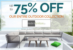 Modern Furniture deals in the Toronto flyer