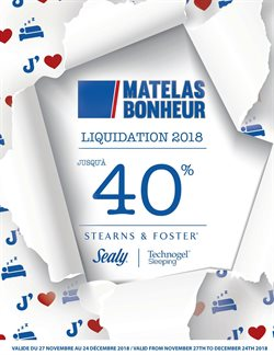 Matelas Bonheur deals in the Montreal flyer