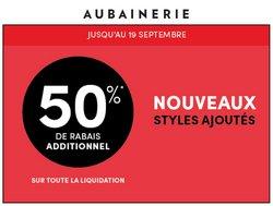 Aubainerie deals in the Aubainerie catalogue ( Expires today)