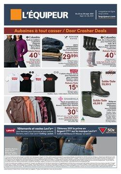 Clothing, Shoes & Accessories deals in the L'équipeur catalogue ( 2 days left)