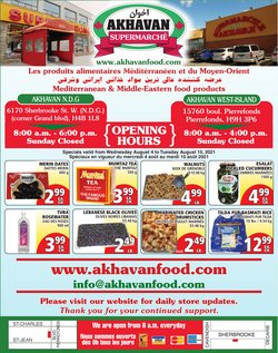 Grocery deals in the Akhavan catalogue ( Published today)