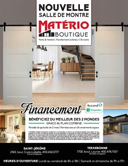 Matério deals in the Saint-Jérôme flyer