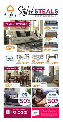 Meubles Ashley deals in the Guelph flyer