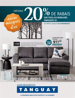 Meubles Tanguay deals in the Quebec flyer
