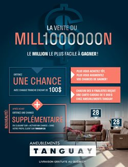 Home & Furniture offers in the Meubles Tanguay catalogue in Saint-Georges ( 7 days left )