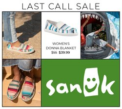 Sanuk deals in the Sanuk catalogue ( 8 days left)