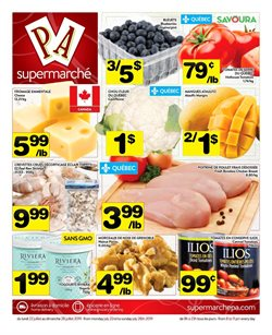 Supermarché PA deals in the Montreal flyer