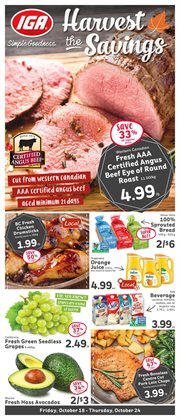 Grocery offers in the Market Place IGA catalogue in Chilliwack