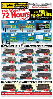 Home & Furniture deals in the Surplus Furniture catalogue ( 1 day ago)
