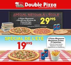 Restaurants deals in the Double Pizza catalogue ( 15 days left)