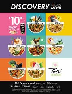 Restaurants deals in the Thai Express catalogue ( 21 days left)
