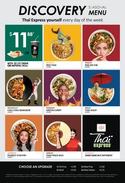 Restaurants deals in the Thai Express catalogue ( 27 days left)