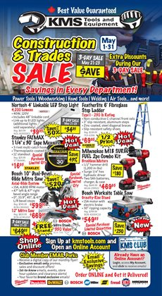 KMS Tools catalogue in Calgary ( 3 days left )