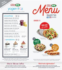 Restaurants offers in the Pita Pit catalogue in Montreal ( 16 days left )