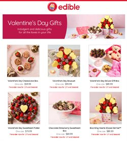 Valentine's Day deals in the Edible Arrangements catalogue ( 27 days left)