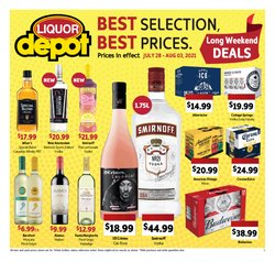 Restaurants deals in the Liquor Depot catalogue ( Expires today)