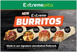 Restaurants deals in the Extreme Pita catalogue ( More than a month)