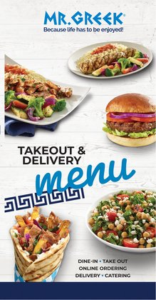 Restaurants deals in the Mr Greek catalogue ( More than a month)