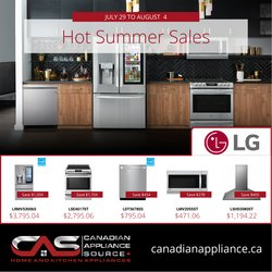 Electronics deals in the Canadian Appliance Source catalogue ( Expires tomorrow)