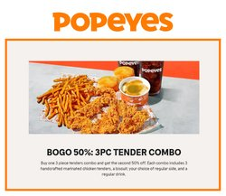 Restaurants deals in the Popeyes catalogue ( More than a month)