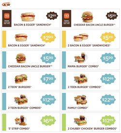 Restaurants offers in the A&W catalogue ( 10 days left )