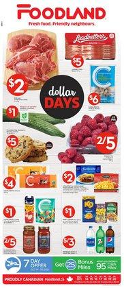 Foodland deals in the Foodland catalogue ( Expires tomorrow)