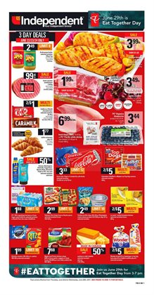 Independent Grocer deals in the Charlottetown (Prince Edward Island) flyer