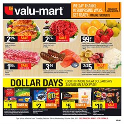 Valu-mart deals in the Timmins flyer