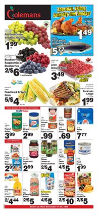Coleman's deals in the St. John's flyer