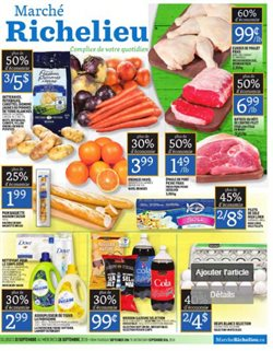 Marché Richelieu deals in the Quebec flyer