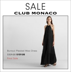Club Monaco deals in the Club Monaco catalogue ( More than a month)