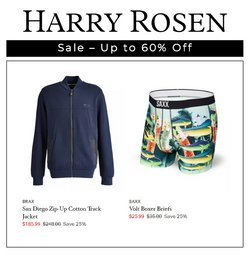 Luxury Brands deals in the Harry Rosen catalogue ( Published today)