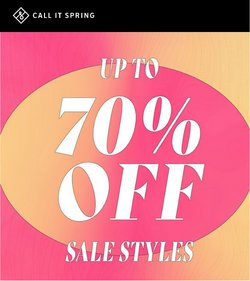 Clothing, Shoes & Accessories deals in the Call it Spring catalogue ( Published today)