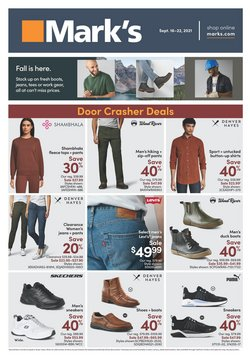 Clothing, Shoes & Accessories deals in the Mark's catalogue ( 3 days left)